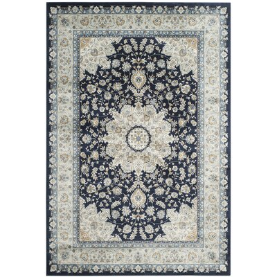 Highcliffe Navy/Light Blue Area Rug Rug Size: Rectangle 8 x 11