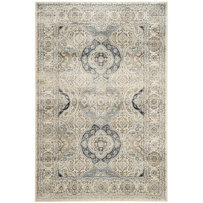 Rodborough Vintage Ivory/Ivory Area Rug Rug Size: Rectangle 4 x 57