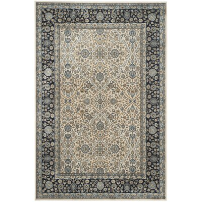 Godolphin Ivory/Navy Area Rug Rug Size: Rectangle 4 x 57