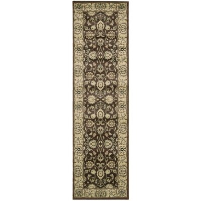 De Foix Brown Area Rug Rug Size: Runner 23 x 8