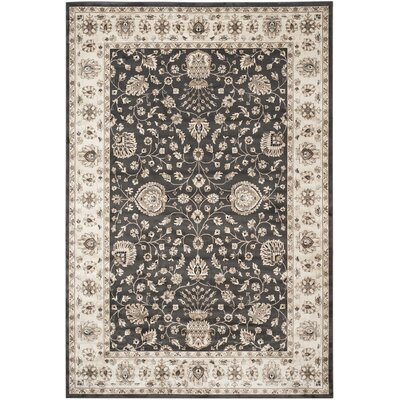 Kenton Anthracite/Ivory Area Rug Rug Size: Rectangle 8 x 11
