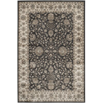 Kenton Anthracite/Ivory Area Rug Rug Size: Rectangle 51 x 77