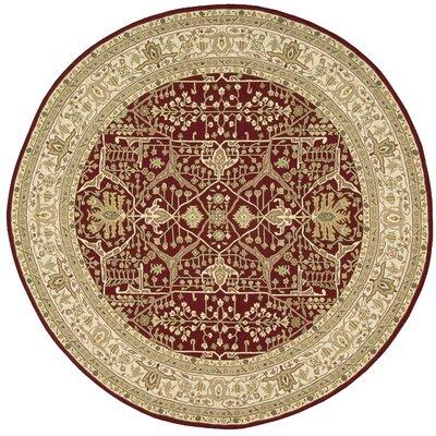 Bulah Hand-Woven Burgundy Area Rug