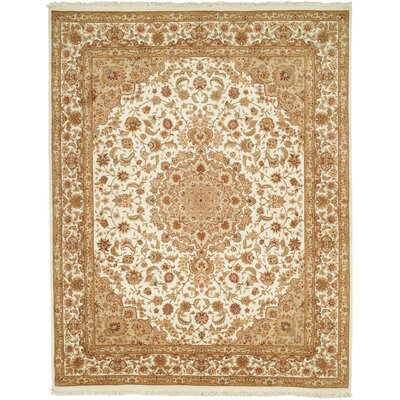Della Hand-Woven Ivory Area Rug Rug Size: 79 x 99