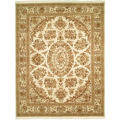 Ismay Hand-Woven Ivory/Beige Area Rug Rug Size: Rectangle 79 x 99