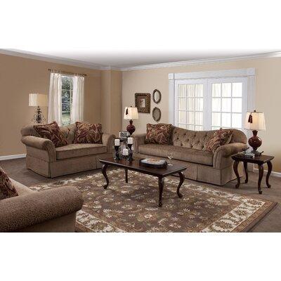 Serta Upholstery Lutie Loveseat Upholstery: Famu Copper