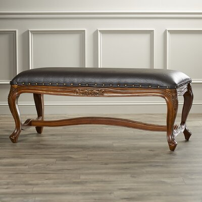 Hoople Wooden Accent Entryway Bench