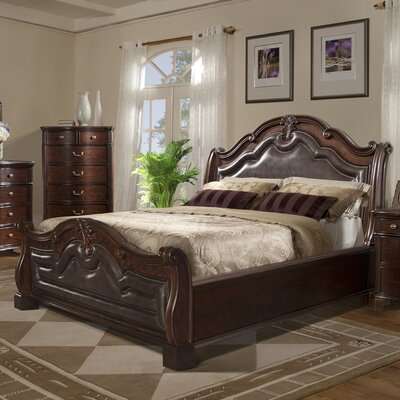 Alanya 3 Piece Sleigh Bed Set Size: King