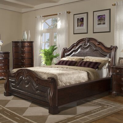 Alanya 3 Piece Sleigh Bed Set Size: Queen