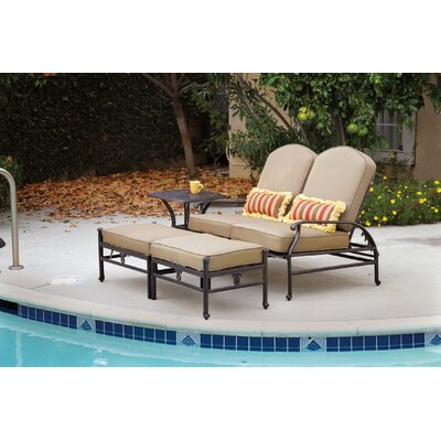 Fairmont Loveseat and Double Ottoman Set Frame