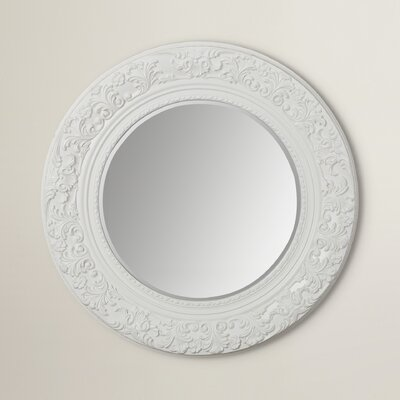 Sainte Claire Carved Round Mirror
