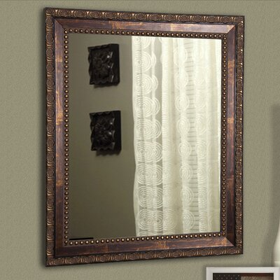 Square Copper Bronze Wall Mirror