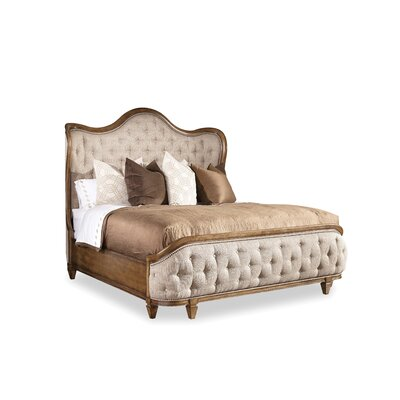 Sofitel Upholstered Panel Bed Size: King, Finish: Nutmeg