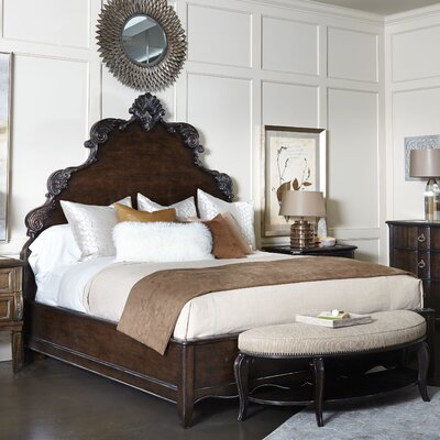 Sofitel Panel Bed Finish: Nutmeg, Size: California King