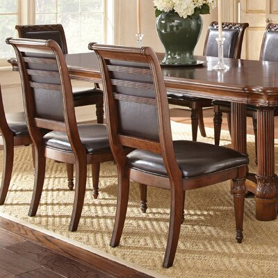 Lively Genuine Leather Upholstered Dining Chair (Set of 2)