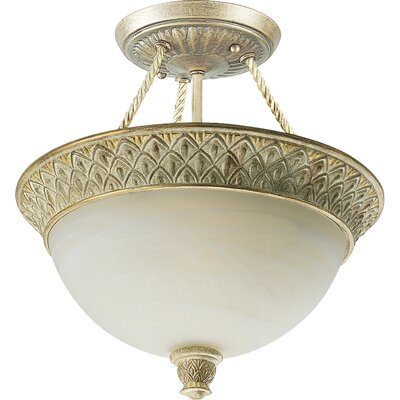 Bellevue 2 Light Semi Flush Mount