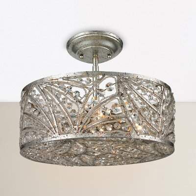 Jaidan 4-Light Semi Flush Mount