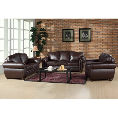 Astoria Grand ASTG2793 29072142 Nassau Leather Living Room Collection