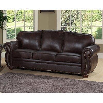 Astoria Grand ASTG2794 29072143 Nassau Leather Sofa