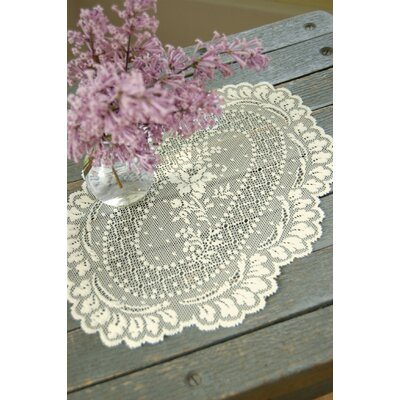 Victor Doily (Set of 2) Color: Ecru, Size: 28