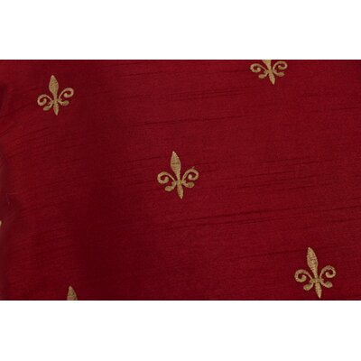 Chateau Filler 50 Curtain Valance Color: Red