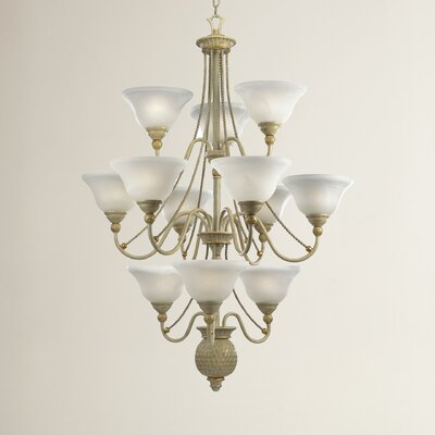 Valholl 12-Light Shaded Chandelier Finish: Seabrook