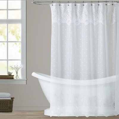 Victor Shower Curtain Color: White
