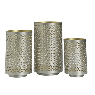 Astoria Grand 3 Piece Lace Metal Luminary Set