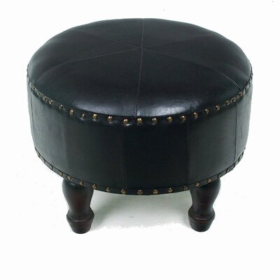 Stone Castle Faux Leather Ottoman Upholstery: Dark Chocolate