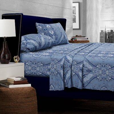 Carncastle 300 Thread Count Egyptian Quality Cotton Deep Pocket Sheet Set Size: California King