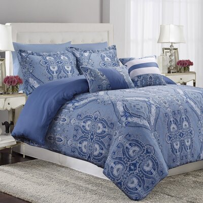 Carncastle 5 Piece Duvet Cover Set Size: Queen