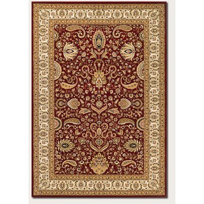 Hampstead Ruby/Cream Area Rug