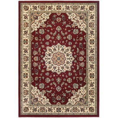 Vincent Ruby/Ivory Area Rug Rug Size: 710 x 112