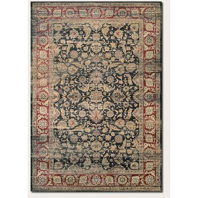 Cotswolds Black/Red Area Rug