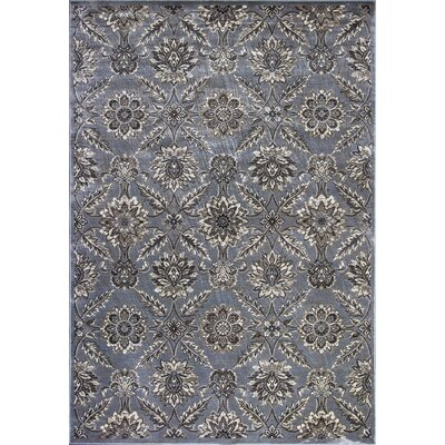 Palmilla Silver Area Rug Rug Size: 53 x 77