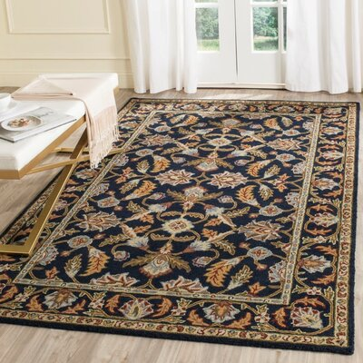 Danieli Hand-Tufted Navy Area Rug Rug Size: Rectangle 5 x 8