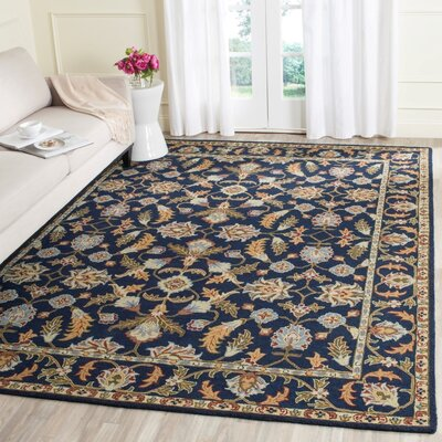 Danieli Hand-Tufted Navy Area Rug Rug Size: Rectangle 8 x 10