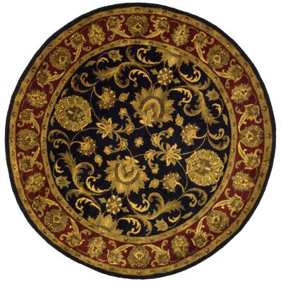 Connecticut Hand-Knotted Area Rug Rug Size: Round 8