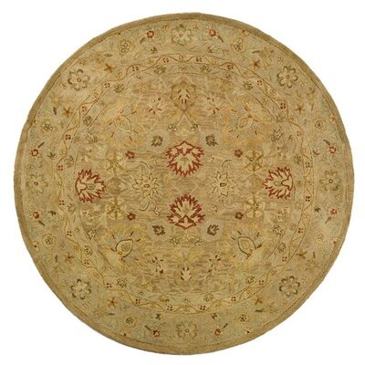 Bishop Brown/Beige Area Rug Rug Size: Round 8