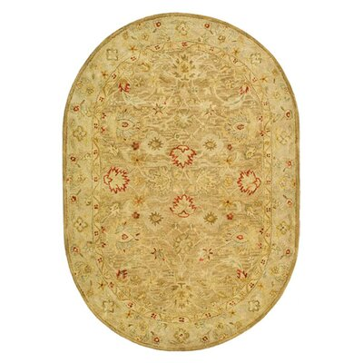 Bishop Brown/Beige Area Rug Rug Size: Oval 46 x 66