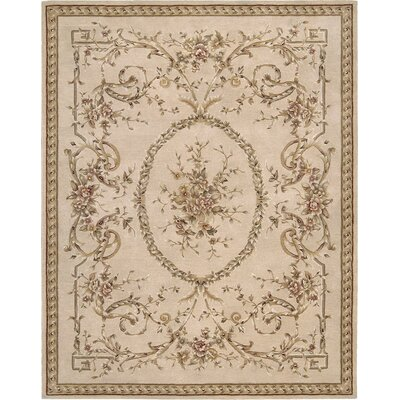 Leland Hand-Tufted Beige Area Rug Rug Size: Rectangle 56 x 86