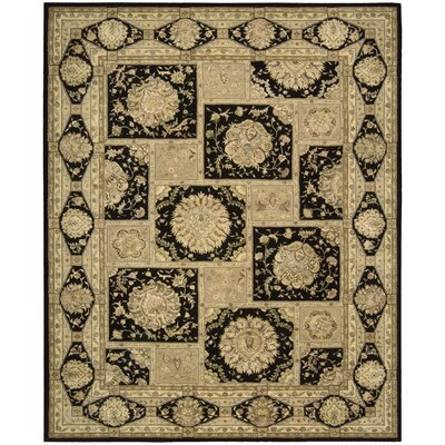 Fontenelle Hand-Tufted Black/Beige Area Rug Rug Size: Rectangle 56 x 86