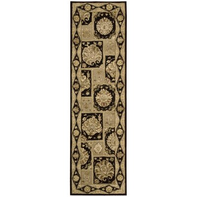Fontenelle Hand-Tufted Black Area Rug Rug Size: Runner 2'3