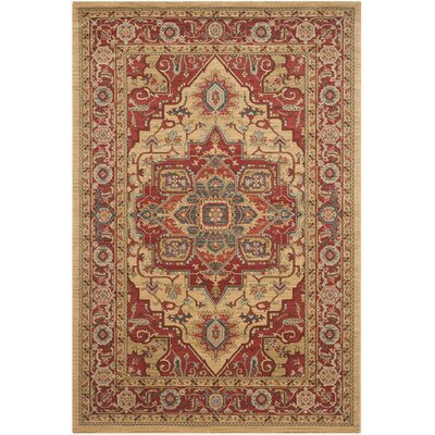 Clarion Red Area Rug Rug Size: 4 x 57