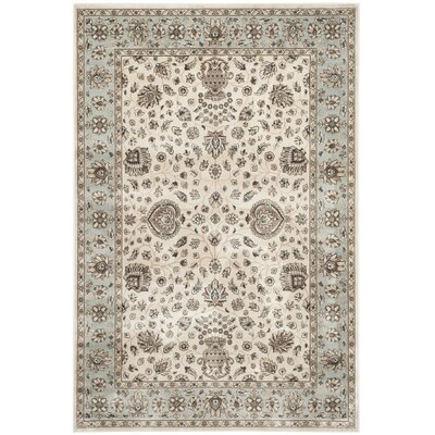 Randalholme Ivory/Light Blue Area Rug Rug Size: Rectangle 4 x 57
