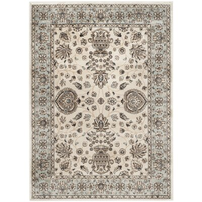 Randalholme Ivory/Light Blue Area Rug Rug Size: Rectangle 51 x 77