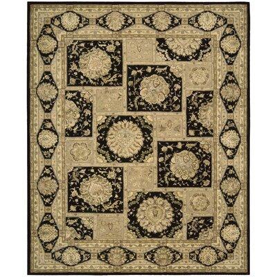 Fontenelle Hand-Tufted Black/Beige Area Rug Rug Size: 56 x 86