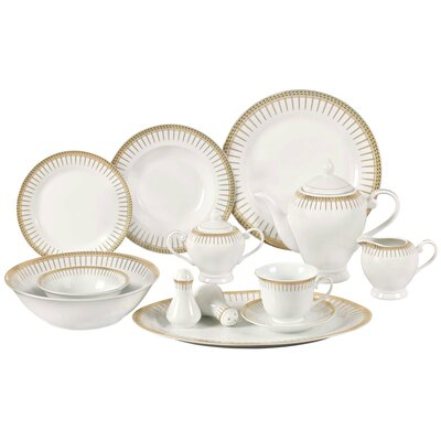 Deakin 57 Piece Porcelain Dinnerware Set ASTG3090 31184523