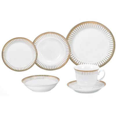 Deakin 24 Piece Porcelain Dinnerware Set