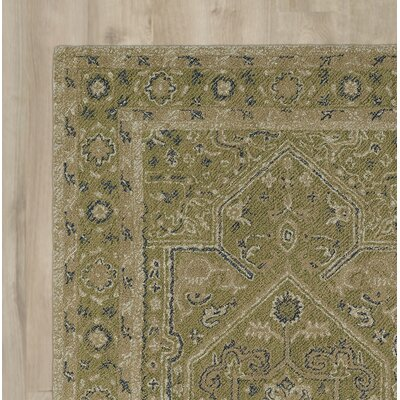 Eugene Hand-Tufted Green Area Rug